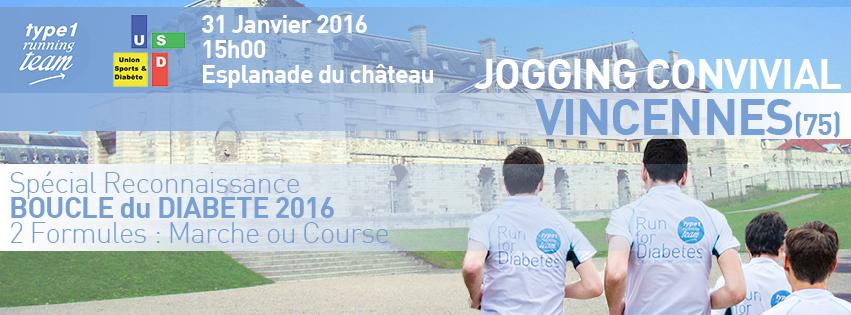 JOGGING CONVIVIAL 31 JANVIER – RECONNAISSANCE BOUCLE DU DIABÈTE 2016