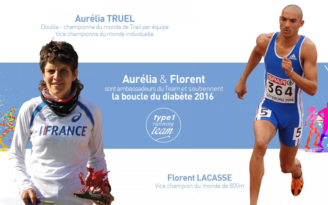 AURÉLIA TRUEL ET FLORENT LACASSE : PARRAINS DE LA BOUCLE DU DIABÈTE 2016